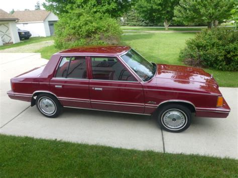 1983 dodge aries base sedan 4 door 2 2l 23 000 original