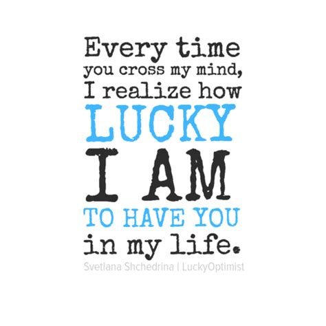 I Am A Lucky by I Am Lucky To You Quotes Quotesgram