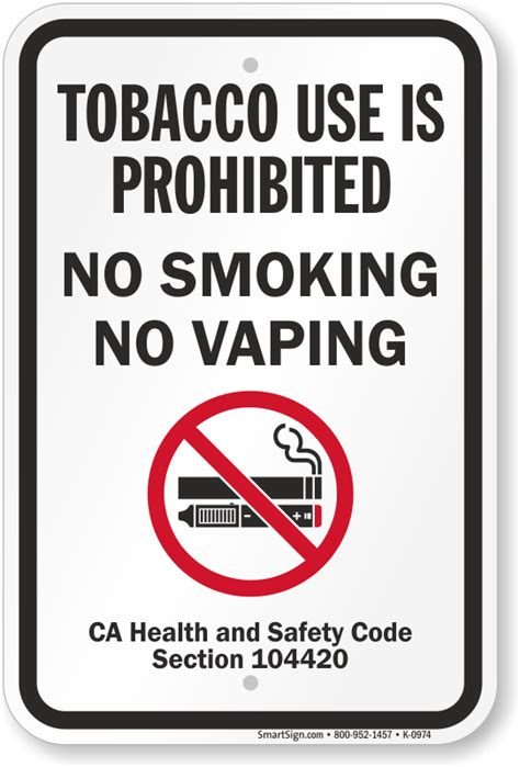 no smoking sign california 5 stars of 4776 reviews