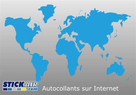 Pochoir Carte Du Monde 7894 by Autocollant Planisphere Monde En Vinyle D 233 Coup 233