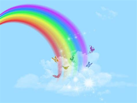 Rainbows Backgrounds Wallpaper Cave Rainbow Background For Powerpoint