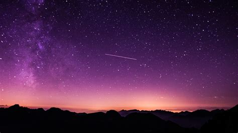 purple starry sky wallpapers hd wallpapers id