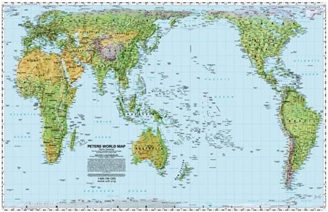 peters projection map world peters projection pacific centered by odt inc
