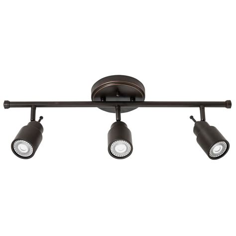 Bronze Track Lighting Fixtures Lithonia Lighting 2 Ft 3 Light Rubbed Bronze Led Track Lighting Fixed Kit Ltfstcyl Mr16gu10