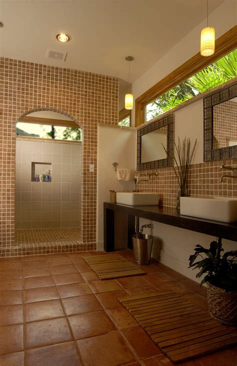 spanish tile bathroom ideas roman shower stalls for your master bathroom