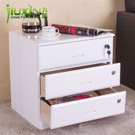 Locking Storage Drawers by Furniture Bedside Cabinet Brief Modern Solid Wood Cabinet