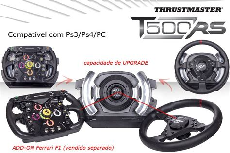 volante thrustmaster volante t500rs thrustmaster ps3 ps4 e pc cockpit