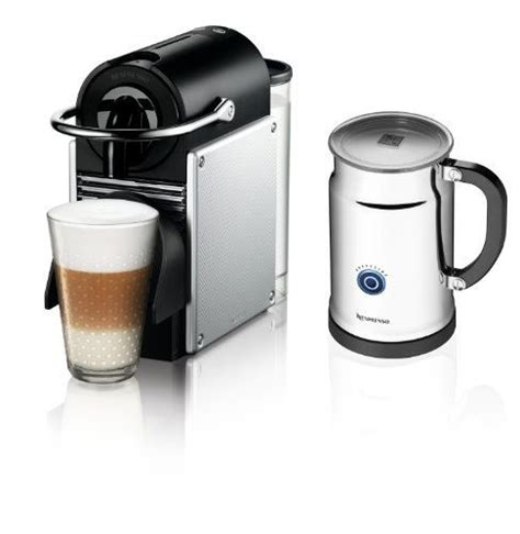 bed bath and beyond nespresso nespresso pixie espresso maker with aeroccino plus milk frother