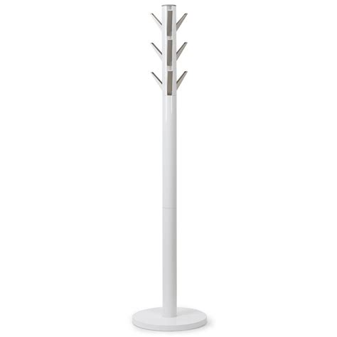 White Standing Coat Rack by White Coat Rack Cosmecol
