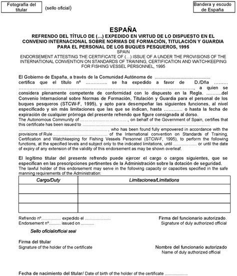 modelo de certificado de aptitud de medios flotantes de instalaciones boe es documento consolidado boe a 2014 1687