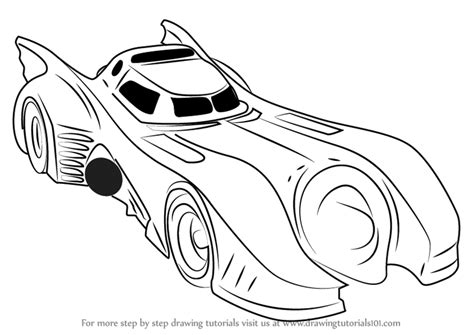 batman car drawing learn how to draw a batmobile 1989 batman step by step