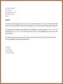 salary increment letter 6 best printable sles dotxes