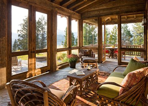 Design For Screened Porch Furniture Ideas Timeless 30 Cozy And Creative Rustic Sunrooms Sunroom Cabin And Decking