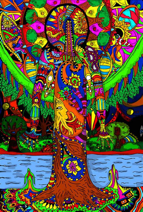 In Trippy Drawings colorful psychedelic style digital artwork