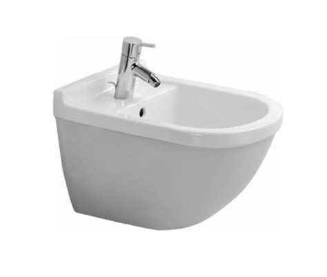 bidet duravit duravit starck 3 bidet wall mounted with overflow 228015