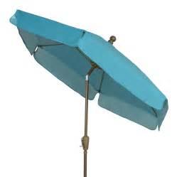 Market Patio Umbrella Shop Fiberbuilt Home Teal Market Patio Umbrella At Lowes