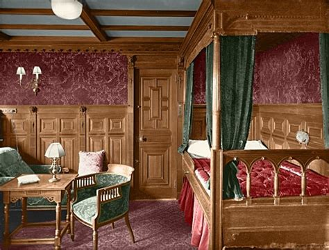 1st Class Cabin On Titanic by Colorized Photograph Of Class Cabin B 59 On The Rms
