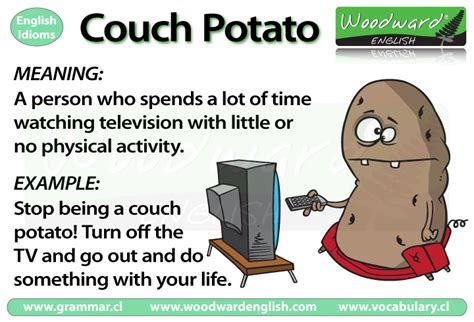 Couch Potato English Idiom Meaning Woodward English