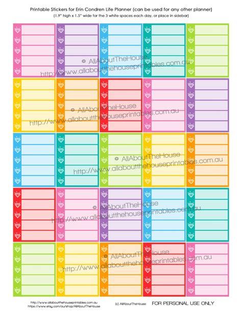 printable planner checklist stickers new printable planner sticker releases september