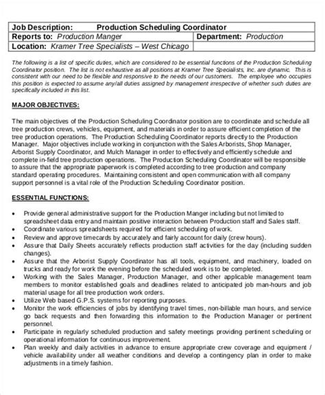 Production Scheduler Cover Letter by Production Scheduler Description Scheduler Resume Production Shift Manager Cover
