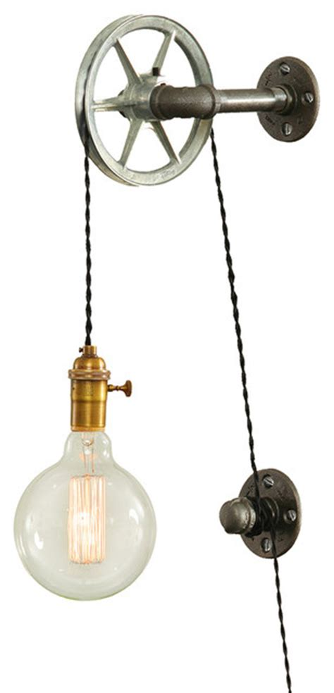 bathroom light pulley west ninth vintage steel pulley wall light wall sconces
