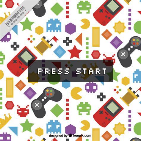 pattern jeux video controle video game vetores e fotos baixar gratis