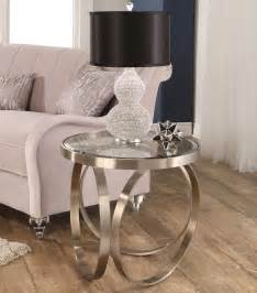 Silver Table Ls Living Room New Arrivals Pearl Steel End Table Silver