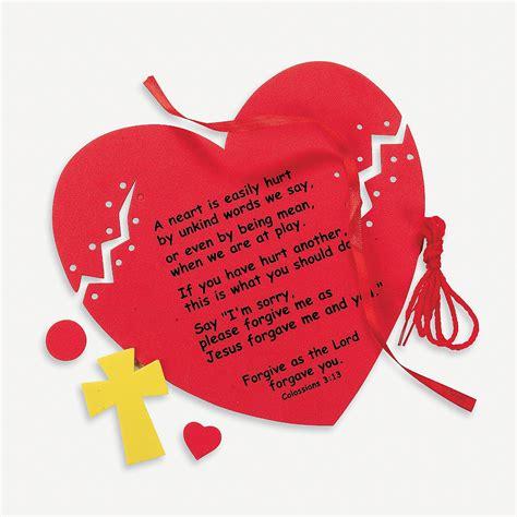 forgiveness bible crafts christian crafts about forgiveness