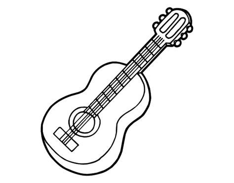 spanish guitar coloring page spanish guitar coloring coloring pages