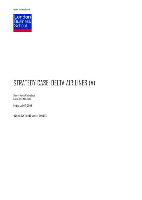 Lbs Mba India Linkedin by Delta Air Lines Medvedeva Dlemba2010 V2