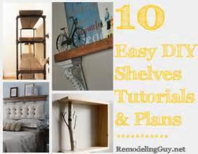 10 easy diy shelves tutorials plans and ideas