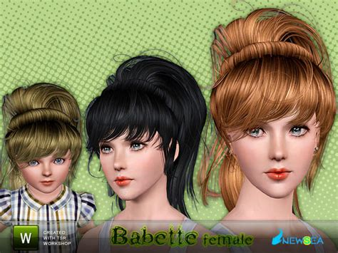 1800s hairstyles for sims 3 the sims 3 vintage ponytail with bangs babette by newsea