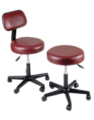 pneumatic mobile stool with back 18 22 inch height