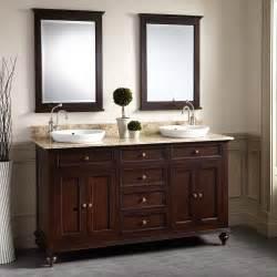 60quot keller mahogany double vanity for semirecessed sinks