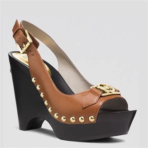 Samera Brown Sling Bag michael kors platform wedge sandals