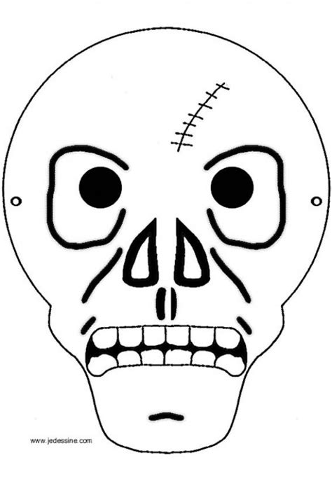 printable halloween mask designs how to craft skeleton mask hellokids com