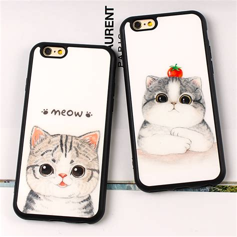 Iphone 7 Lovely Cat Lover Rivet Tassel Soft Casing Cover Bumper way lovely meow cat cherry cases for iphone x 8 8plus 7 6 6s plus se 5 5s