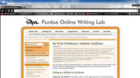apa style and format guidelines youtube in text and bibliographic citations using apa style youtube