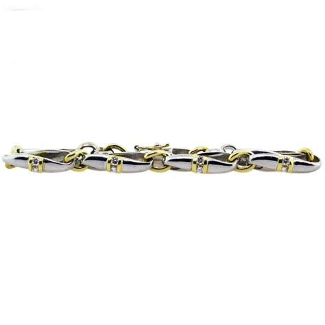 platinum and 18k yellow gold mens bracelet
