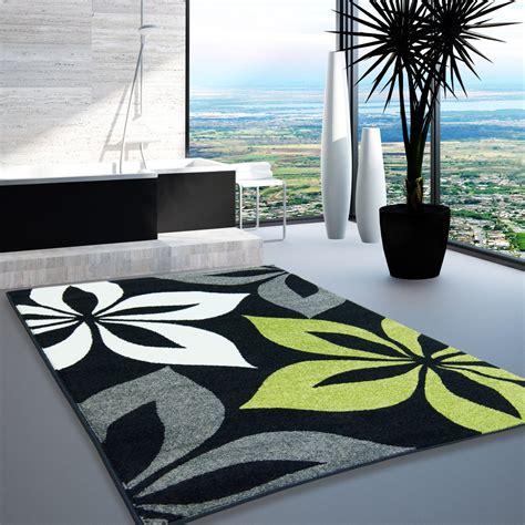 Tapis Design Salon by Tapis Design Moderne Salon Mod 232 Le Fleur Gris Vert Cr 232 Me