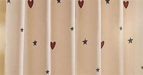 hearts and stars shower curtain hearts stars shower curtain primitive pinterest