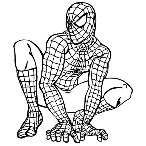 spiderman coloring spiderman pages to color