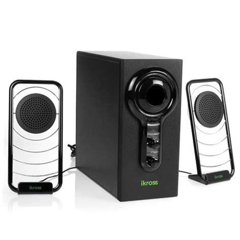 ikross  blue led satellite speaker stereo sound system