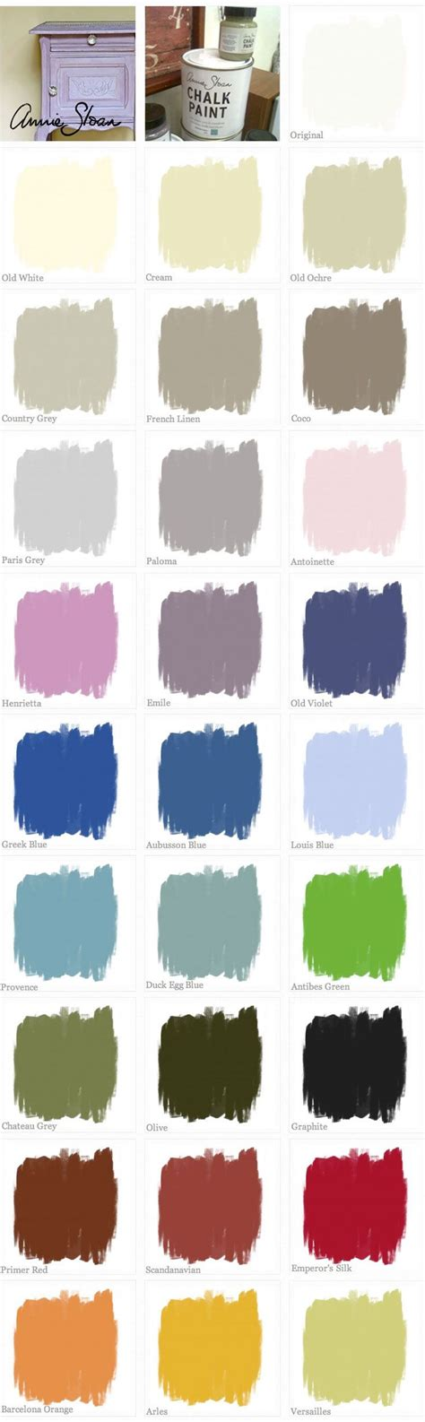 chalk paint sloan chalk paint color swatches