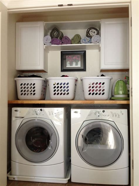 Laundry closet, love how it turned out.   New house   Pinterest