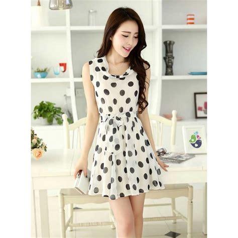 Dress Wanita dress wanita motif polkadot d2370 moro fashion