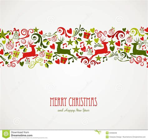christmas pattern border merry christmas decorations elements border stock vector