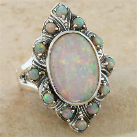 lab opal antique design 925 sterling silver