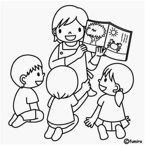 dibujo de preescolar para mi maestra dibujos para colorear maestra de infantil y primaria el