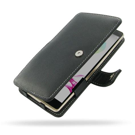 Huanmin Flip Cover Lg G4 Stylus Black lg g4 stylus leather flip cover pdair sleeve pouch wallet holster